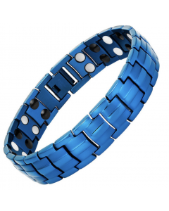 4in1 Magnets Negative Ions Germanium Far Infrared Titanium Bracelet Blue