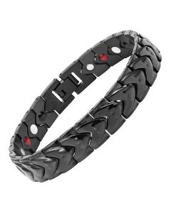 4in1 Magnets Negative Ions Germanium Far Infrared Titanium Bracelet