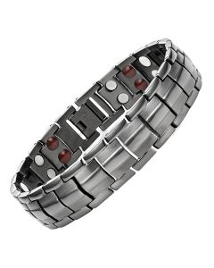 4in1 Magnets Negative Ions Germanium Far Infrared Titanium Bracelet GUNMETAL