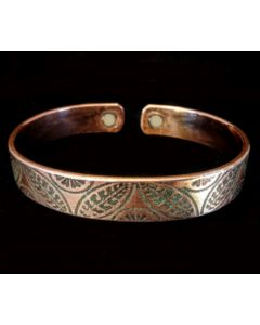 BC7 Copper Magnetic Band 'NZ Geo Fern'