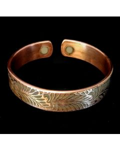 BC10 Copper Magnetic Band ' Ferns Leaf'