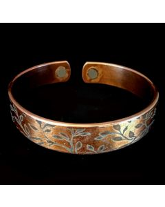 BC32 Copper Magnetic Band 'fern vine'