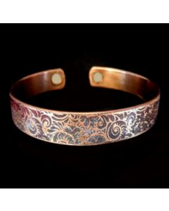 BC1 Copper Magnetic Band 'Ferns'