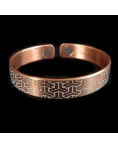 BC4 Copper Magnetic Band 'geo 2'