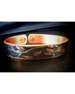 BC12 Copper Magnetic Band 'Vine Leaf'