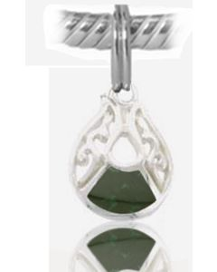 925 Sterling Silver Jade Charm