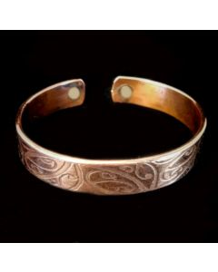 BC11 Copper Magnetic Band 'Maori Border'