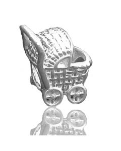 Sacred NZ 925 Sterling Silver New Zealand Maori Baby Carriage Charm Bead