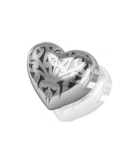 Sacred NZ 925 Sterling Silver Aroha Heart Bead