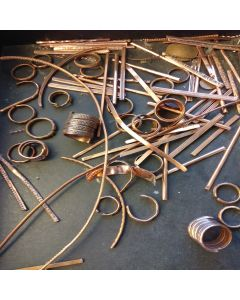 Making copper patterned rings in our sacred NZ factory